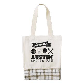 Fan de deportes oficial de Austin Bolsa Tote Zazzle HEART
