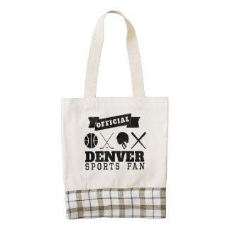 Fan de deportes oficial de Denver Bolsa Tote Zazzle HEART