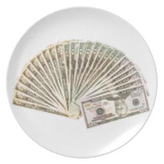 Fan de dólares plato
