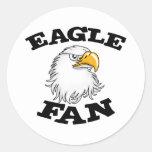 Fan de Eagle Pegatina Redonda