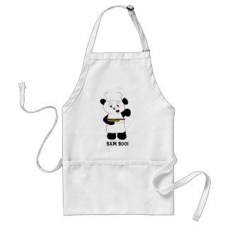 Fan de Emeril Lagasse de la panda del dibujo anima Delantal