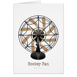 Fan de hockey (#1) tarjeta de felicitación