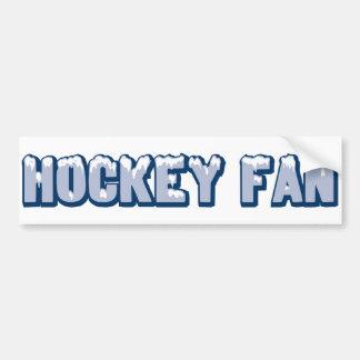 Fan de hockey pegatina para auto