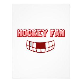 Fan de hockey desdentada invitacion personalizada