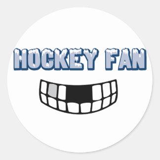 Fan de hockey pegatina redonda