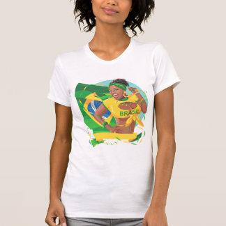 Fan de la bandera del Brasil Camisetas