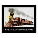 Fan de la locomotora de vapor poster