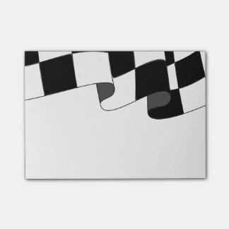 Fan de la raza de la bandera que agita a cuadros post-it® notas