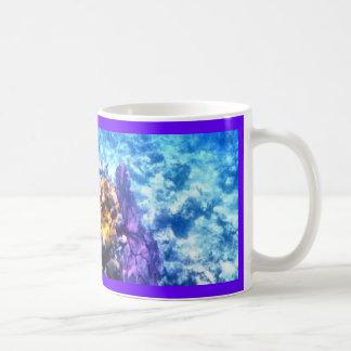 Fan de mar púrpura taza de café