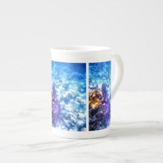 Fan de mar púrpura taza de té