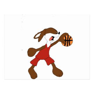Fan de Michael Jordan del conejo del dibujo Tarjeta Postal