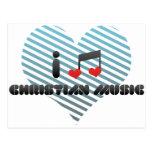 Fan de música cristiano tarjeta postal