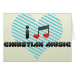 Fan de música cristiano tarjetón