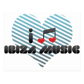 Fan de música de Ibiza Tarjetas Postales