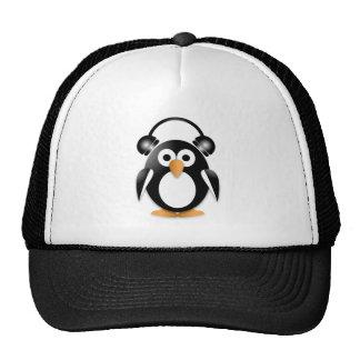 Fan de música del pingüino gorros bordados