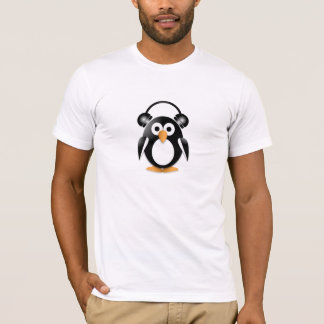 Fan de música del pingüino playera