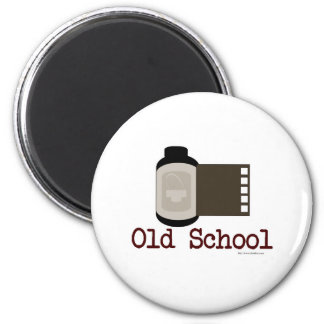 Fan de película de la escuela vieja imán redondo 5 cm