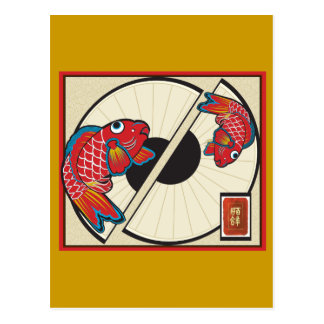Fan de pescados postal