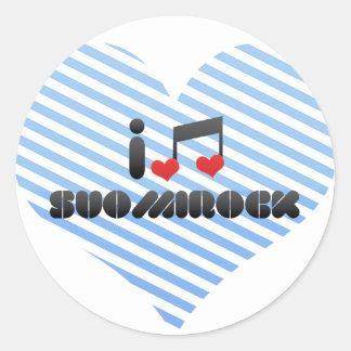 Fan de Suomirock Pegatina Redonda