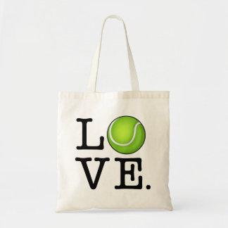 Fan de tenis del amor del tenis bolsa tela barata