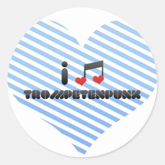 Fan de Trompetenpunk Pegatina Redonda