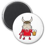Fan de Viking del danés Imán Redondo 5 Cm