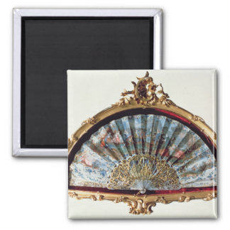 Fan, decorated with a scene of a fete magnet