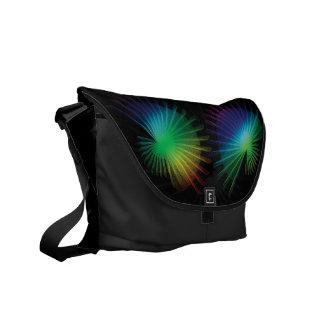 Fan del arco iris bolsas messenger