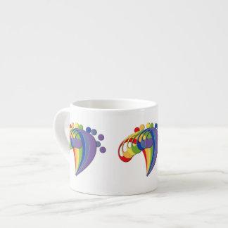 Fan del arco iris del Clef bajo Taza Espresso