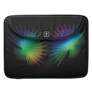 Fan del arco iris funda para macbook pro