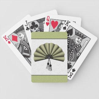 Fan del arte del pixel de la verde salvia baraja cartas de poker