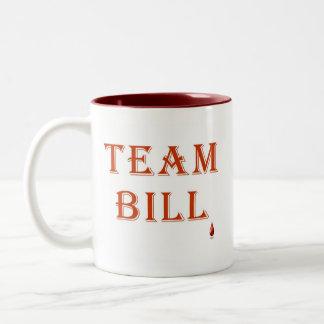 Fan del ~ de Bill del equipo del colmillo Taza Dos Tonos