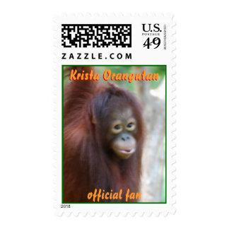 Fan del funcionario del orangután de Krista Sello