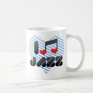 Fan del jazz tazas de café