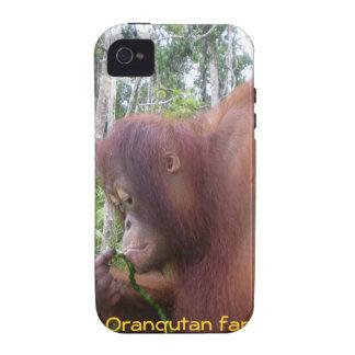 Fan del orangután de Krista Vibe iPhone 4 Fundas