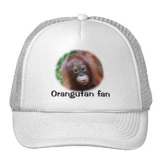 Fan del orangután gorras de camionero