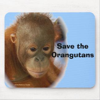 Fan del orangután ningunas estupideces alfombrillas de ratón