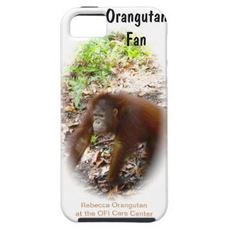 Fan del orangután - Rebecca huérfana iPhone 5 Fundas