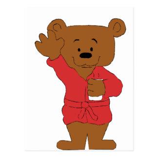 Fan del oso de peluche del dibujo animado P Diddy Postal