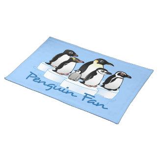 Fan del pingüino mantel