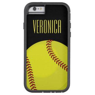 Fan del softball funda de iPhone 6 tough xtreme