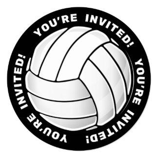 """Fan del voleibol invitación 5.25"""" x 5.25"""""""