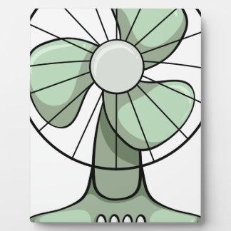 Fan eléctrica placa de madera