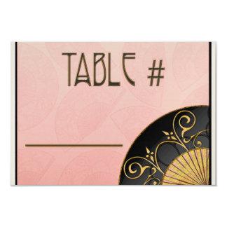 Fan Elegant (Pink) Table Numbers Card