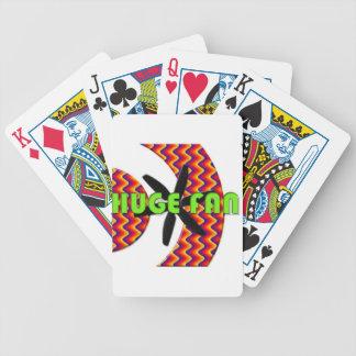fan enorme cartas de juego