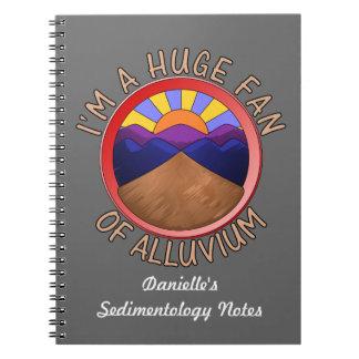 Fan enorme del retruécano del Alluvium Note Book