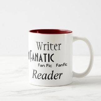 """""""Fan Fiction Fanatic"""" Two-Tone Coffee Mug"""