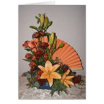 Fan Floral Arrangement Greeting Card