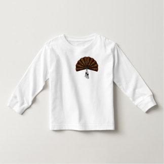 Fan floral del arte del pixel de Brown Camisas