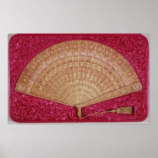 Fan given by Maximilian  of Habsbourg-Lorraine Print